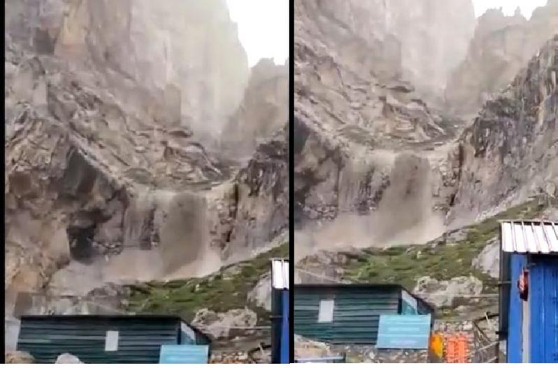 बड़ी खबर : अब अमरनाथ गुफा के पास फटा बादल, BSF और CRPF के कैंप तबाह..देखें वीडियो