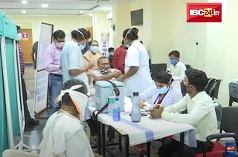 रायपुर जिले में आज 129 केंद्रों में लगेगा टीका, वैक्सीनेशन में आएगी तेजी