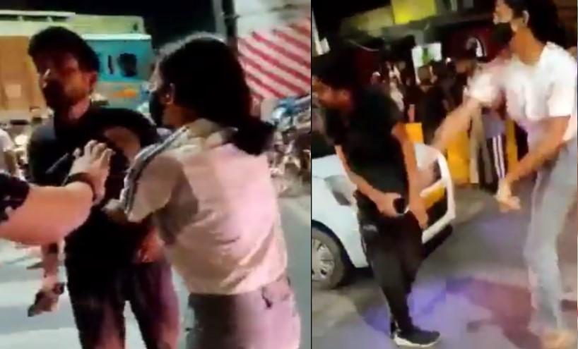 बीच चौराहे युवक पर 'उछल-उछलकर' थप्पड़ बरसाने वाली लड़की पर केस दर्ज, सीसीटीवी फुटेज सामने आने पर हुई कार्रवाई