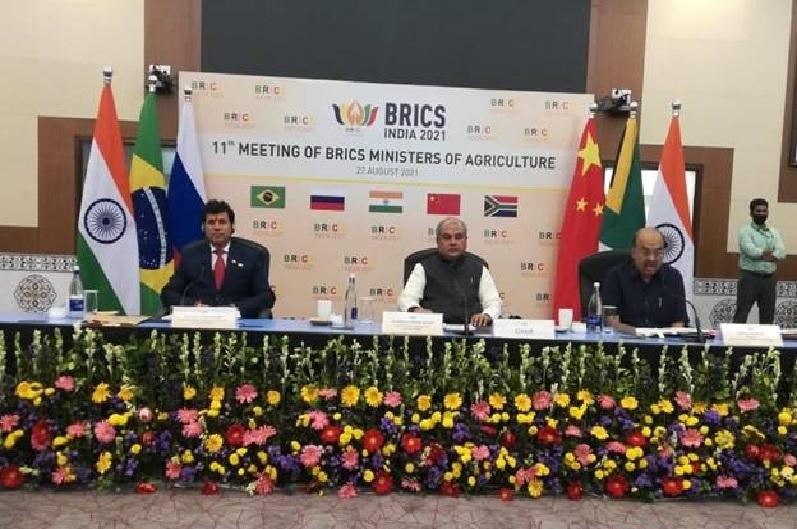 केंद्रीय मंत्री नरेंद्र सिंह तोमर की अध्यक्षता में हुई ब्रिक्स देशों के कृषि मंत्रियों की बैठक, कृषि जैव विविधता को मजबूत करने पर हुआ मंथन
