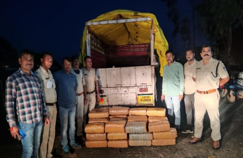 राजधानी में 230 किलो गांजा जब्त, 55 लाख रुपए है अनुमानित कीमत, तीन तस्कर भी गिरफ्तार