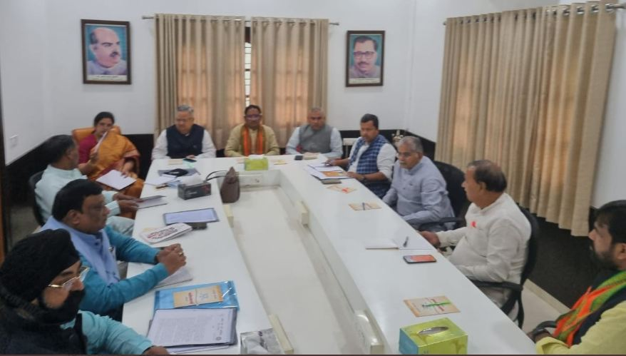 प्रदेश कार्यालय में भाजपा की बैठक शुरू, सरकार से रखी जाएगी व्यापारी कल्याण बोर्ड के गठन की मांग