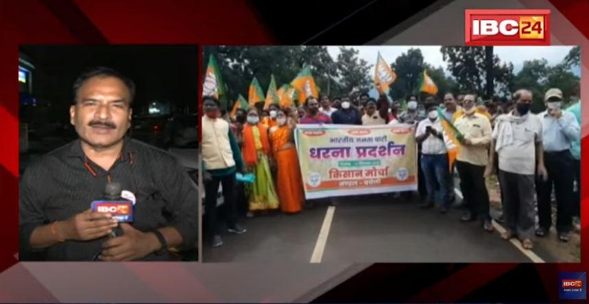 खाद-बीज, बोनस और बिजली कटौती समेत किसानों की समस्या पर भाजपा ने किया प्रदर्शन, रैली निकालकर सौंपा ज्ञापन