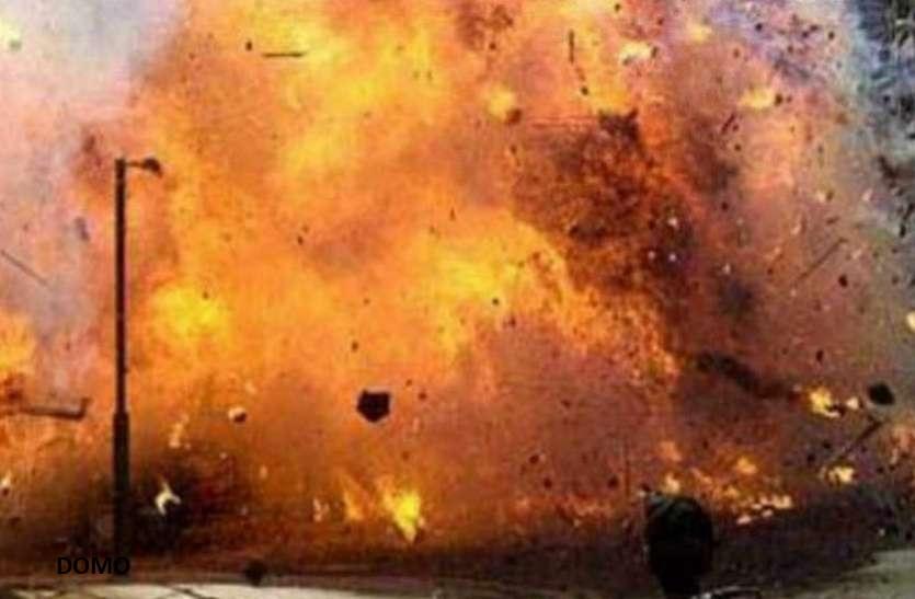 पुलिस थाने में धमाके के बाद लगी भीषण आग, इमारत का एक हिस्सा गिरा, बाल-बाल बची पुलिसकर्मियों की जान