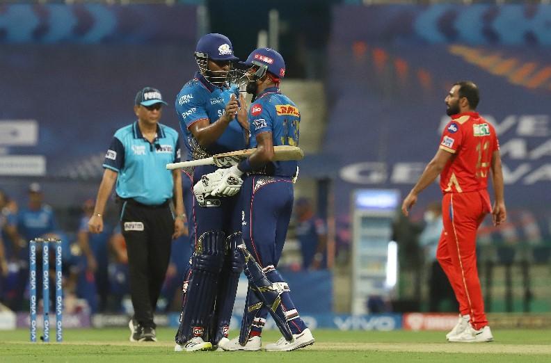 सौरभ तिवारी और हार्दिक पंड्या की नाबाद पारी की बदौलत मुंबई ने पंजाब को हराया, 6 विकेट से जीता मैच